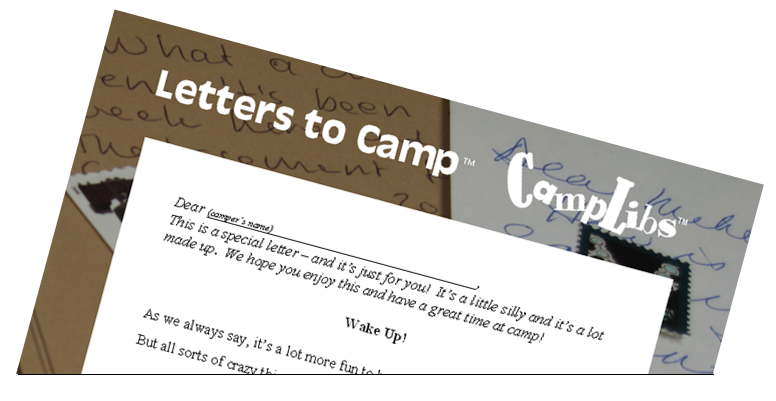 picture regarding Printable Fill in the Blank Camp Letters identified as Outrageous Lib Letters towards Camp