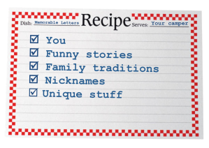 Recipe that's uniquely you - Letters to Camp Blog