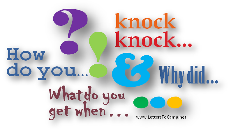 Funny letters to camp kids jokes letters to camp pronofoot35fo Choice Image